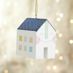 Happy House Ornament- for me $10, $5 shipping. Buy at store Crate and Barrel