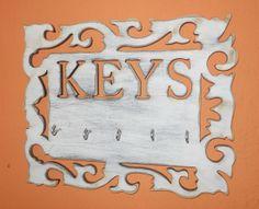Porta Llaves Vintage Calado en Corte Láser / Laser Cutting Vintage Keys Hanger