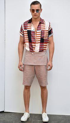 on the runway — David Hart S/S 2016 Menswear // NYFW