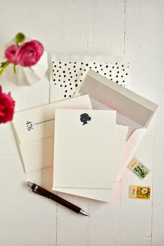 My own personal stationery by Karly Depew of Oscar & Emma. (BRU! I love this!) @Adrienne Raptis Design Life