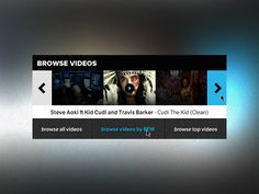 Videos (flip) Mini Interface for MP3 Site by Dave Snowden