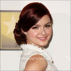 Ariel Winter hairstyle 2012 Critics' Choice Awards - mahogany hair color   Elegant Updo Style