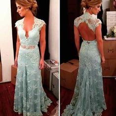 Cheap dresses at discount prices, Buy Quality lace prom dress directly from China lace black dress Suppliers: New Cap Sleeve Mint Green Lace Prom Dresses 2015 with Open Back Long Evening Party Formal Gown vestido de festa longo Backless Mermaid Prom Dresses, Bridesmaid Dresses Long Blue, Prom Dresses 2016, Blue Evening Dresses, Backless Prom Dresses, Cheap Prom Dresses, Evening Gowns, Prom Gowns, Dress Prom