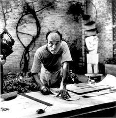 Isamu Noguchi (1904-1988) - Sculptor of Black Sun (1969), Volunteer Park, Seattle, Washington