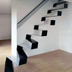 Suspended Staircases: 18 Hanging Stair & Tread Sets.