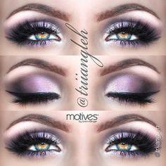 Gorgeous purple eye makeup look using Motives cosmetics!