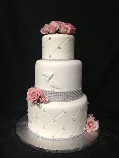 Confirmation cake. Cold porcelain roses.