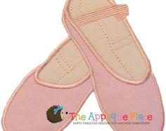 Ballet shoes AppliqueBallet embrideryBallet by CherryStitchDesign