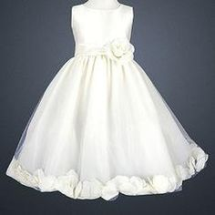 Sophias Style LITO Special Occasion IVORY Petal Wedding Flower Girls Dress 2T-12 - Clothing - Girls - Dresses