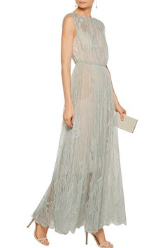 Shop on-sale Valentino Lace and tulle midi dress. Browse other discount designer Dresses & more on The Most Fashionable Fashion Outlet, THE OUTNET.COM