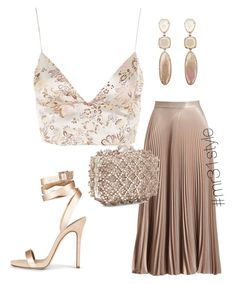 A fashion look from November 2017 featuring floral shirt, pleated skirt and strappy sandals. Browse and shop related looks. Komplette Outfits, Dressy Outfits, Polyvore Outfits, Stylish Outfits, Fashion Outfits, Mode Streetwear, Outfit Trends, Looks Chic, Mode Inspiration