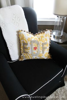 Dwellings By DeVore: DIY Embroidered Monogrammed Pillow