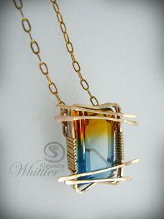 SOLD. Ametrine Gold Filled Pendant. www.stonedisegno.com