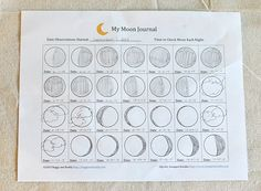 Free Moon Observation Journal for Kids~ BuggyandBuddy.com