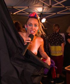 Miley Cyrus goes nearly naked at the MTV Video Music Awards in Los Angeles!
