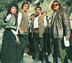 """Romanian actors Marga Barbu, Florin Piersic and Toma Caragiu with a director Dinu Cocea on the set of 1971 movie Haiducii lui Saptecai (The Outlaws of Captain Anghel). Image from """"Cinema"""" magazine (December My Memory, Romania, Childhood Memories, Actors & Actresses, Cinema, Humor, Sport, Movies, Image"""