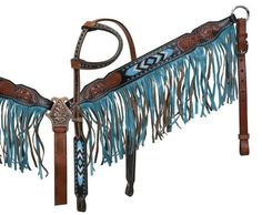 Fringed Beaded Headstall & Breast Collar