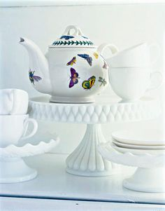 Portmeirion Teapot, visited Portmeirion Factory in Wales got a magnificent soup Tureen while there.