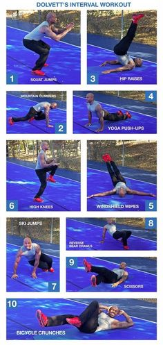 Dolvett Quince's interval at-home workout.