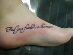 Dance in the dark quote tattoo paws-up