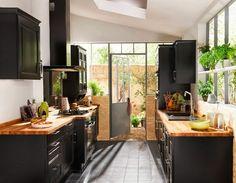 VINTAGE & CHIC: decoración vintage para tu casa · vintage home decor: Quién dijo miedo: 10 cocinas de color negro · 10 Black kitchens