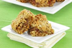 Banana and date flapjacks make a lovely, healthy snack or dessert.