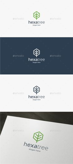 Hexa Tree - Logo Template Vector EPS, AI. Download here: http://graphicriver.net/item/hexa-tree-logo-template/13833688?ref=ksioks