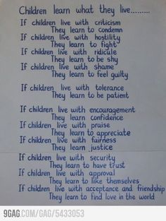 All parents should take note. I lived with the above four and hate the secondary traits in myself so much.