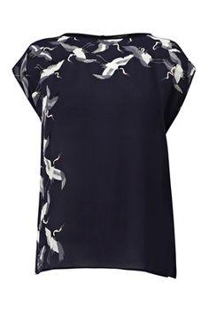 Crane Print T-shirt