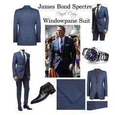 James Bond Spectre Windowpane Suit By Daniel Craig Tom Ford James Bond, James Bond Suit, Bond Suits, James Bond Style, Daniel Craig Suit, Daniel Craig James Bond, James Bond Outfits, Windowpane Suit, Fashion Infographic