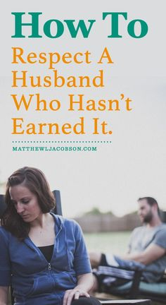 The Bible directly, expressly, and clearly tells wives they are to respect their husbands but let's keep it real. Every husband, at some point in the marriage, will say or do something that diminishes (in many cases, completely destroys) the respect that his wife once had for him. What Then?