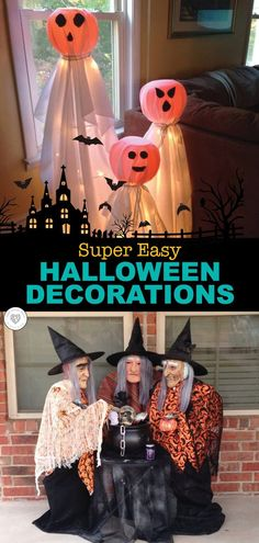 These super easy DIY Halloween decoration are so great. Not only are they easy to make and look great, but they are also easy on the finances. You don