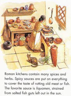 Cocina romana.