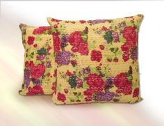 This floral kantha pillow cover Give traditional and attractive look in your living room by using this pillow cover.