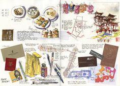 Liz Steel: Revisiting my Singapore sketchbooks Drawing Journal, Artist Journal, Artist Sketchbook, Art Journal Pages, Art Journals, Sketching, Kunstjournal Inspiration, Art Journal Inspiration, Journal Ideas