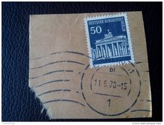 RARE 50 DDR MARKE DDR GERMANY RECOMMENDET PACKAGE-LETTRE STAMP ON PAPER COVER USED SEAL - [6] Democratic Republic