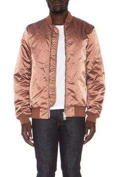 Acne Studios|Melo Satin Bomber in Dusty Pink