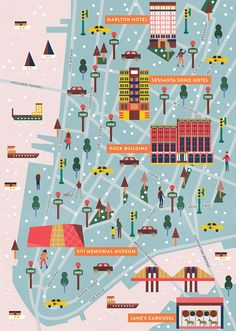 Saskia Rasink - New York Map for Les Echos France