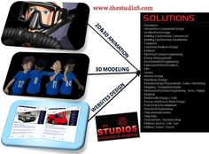 Get the 2D and 3D animation services including 3D Modeling and website design for defined solution  at http://www.thestudio5.com/contact.html