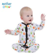 Newborn Baby Boy Girl Clothes Long Sleeve Cartoon Printed Jumpsuit Baby Romper Christmas Similar Mother Nest Clothes(China (Mainland))