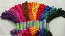 New ThreadsRus 100 Skeins of Silky Hand Embroidery Cross Stitch Floss Threads - Rainbow Colors from ThreadsRus