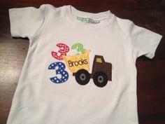 Birthday Dump Truck Shirt by preppyponydesigns on Etsy, $24.00