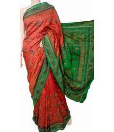Bengali aari work Sarees are made of the best quality fabric. The exquisite Bengali Sarees after getting crafted when they enter the market makes their own special identity among other Sarees because of their traditional touch. Every traditional Bengali Saree adds to the panache of a woman.