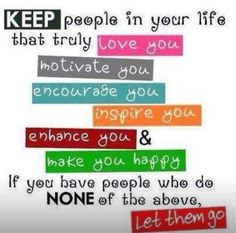 Keep who matters