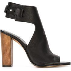 Vince Addie Sandals (€150) ❤ liked on Polyvore featuring shoes, sandals, heels, black, black heeled sandals, kohl shoes, real leather shoes, leather shoes and heeled sandals