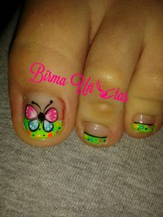 Im agen relacionada Animal Nail Designs, Animal Nail Art, Fingernail Designs, Toe Nail Designs, Cute Toe Nails, Hot Nails, Fancy Nails, Hair And Nails, Pedicure Nail Art