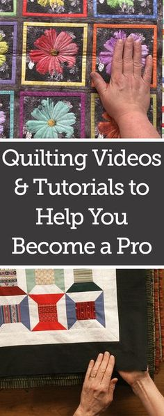 Awesome new quilting ideas and tips from this awesome website. Tons of free quilting tutorials on video to help you become a master!