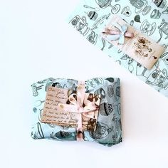 Packaged with love  Thank you @juliascandella for sharing this lovely picture ! #packaging #boutique1861 #wrappinggift #wrappingpaper