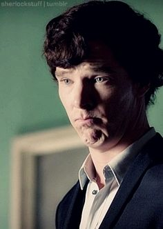 "Sherlock's ""I-do-this-till-I-get-my-own-way"" face."