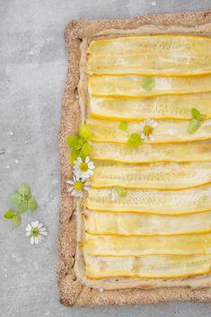 sommerliche Zucchini Tarte  #glutenfrei